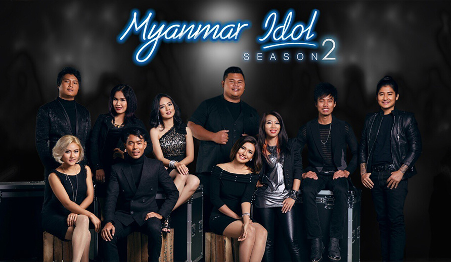 "MNTV's famous program ""Myanmar Idol"""